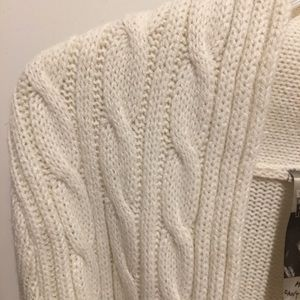 NWT Cropped Cable Knit Cardigan Shrug
